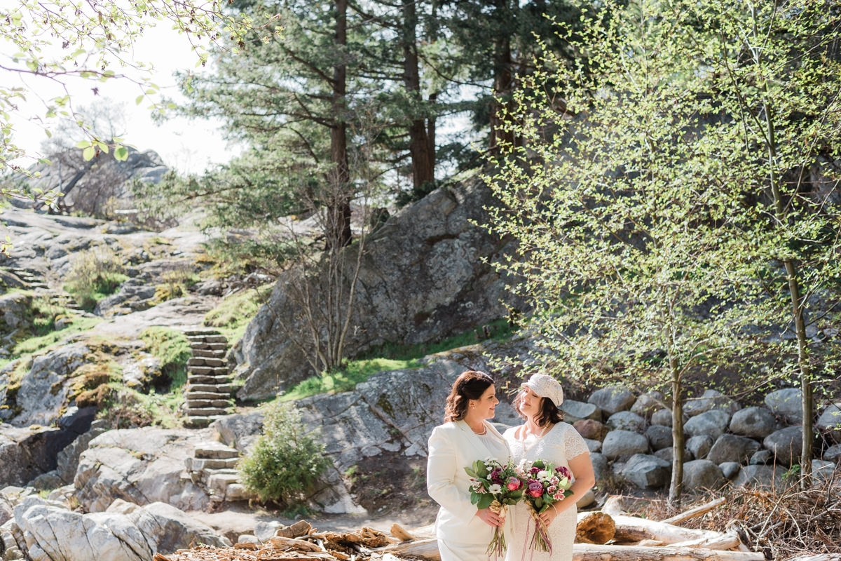 Whytecliff Park elopement in West Vancouver