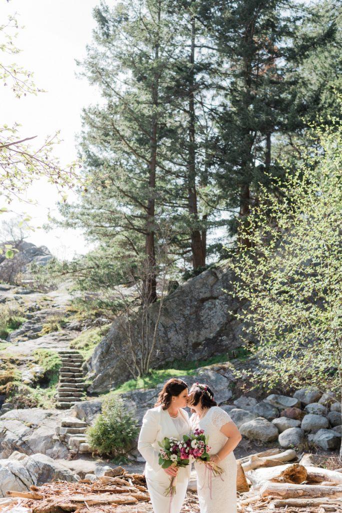 Whytecliff Park elopement brides