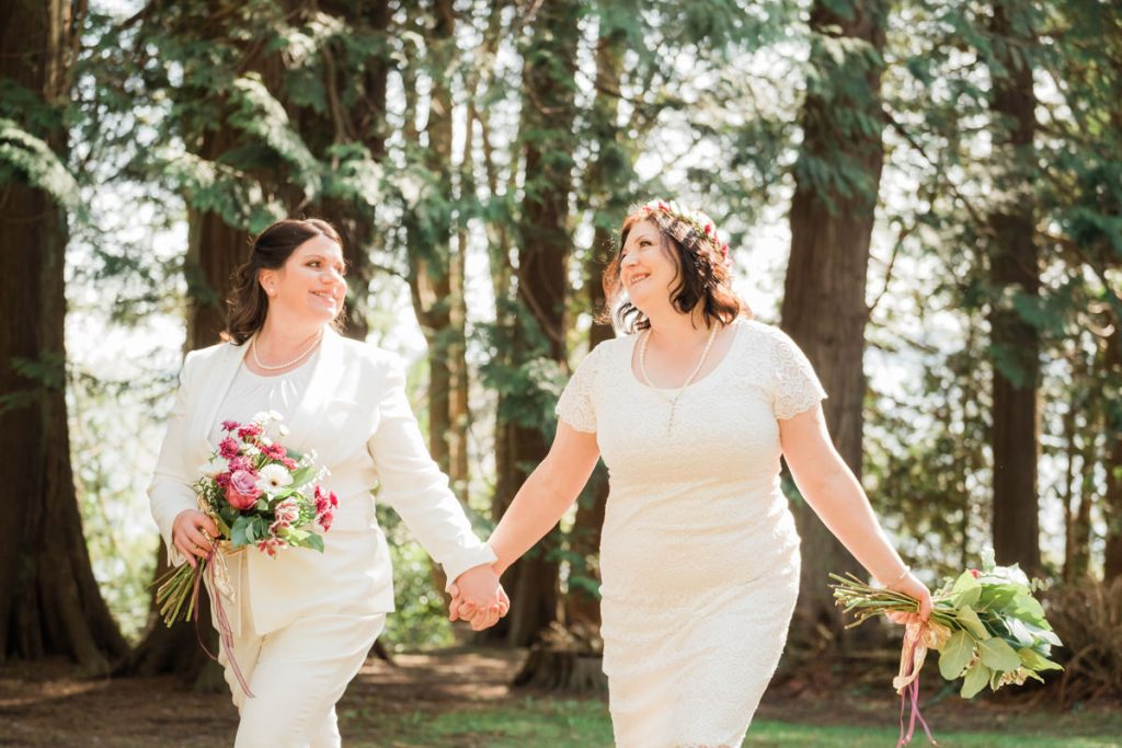 two brides eloping in Vancouver