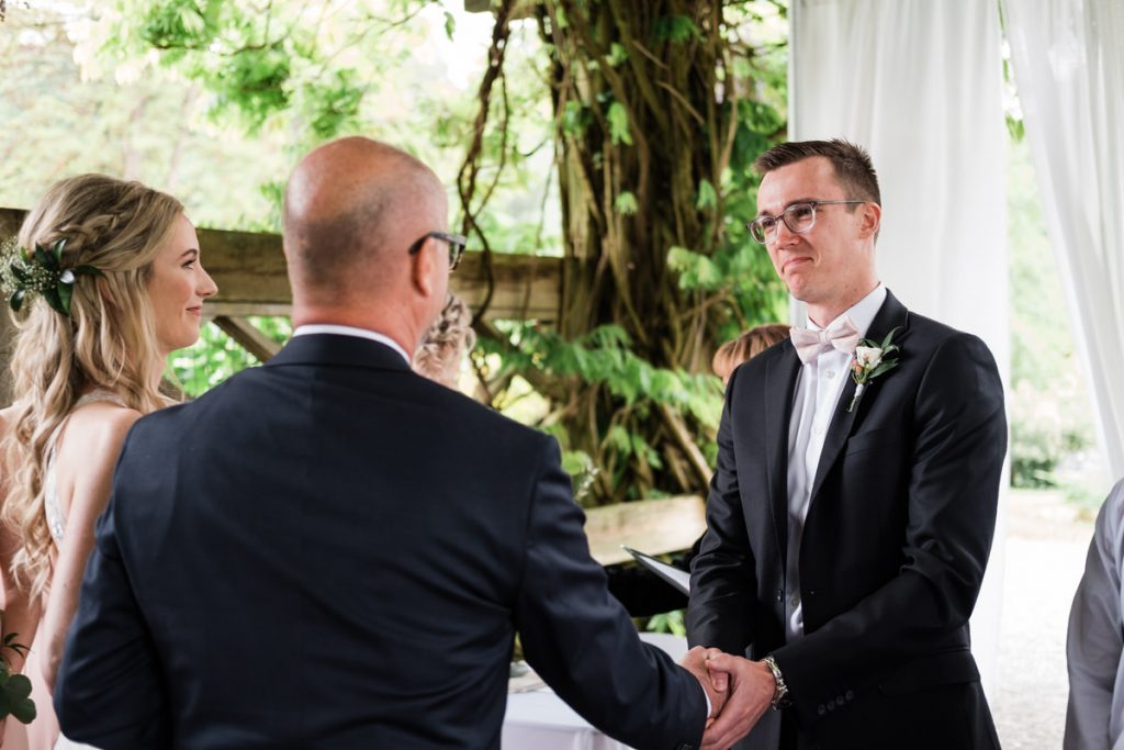 UBC Botanical Gardens wedding ceremony in Vancouver