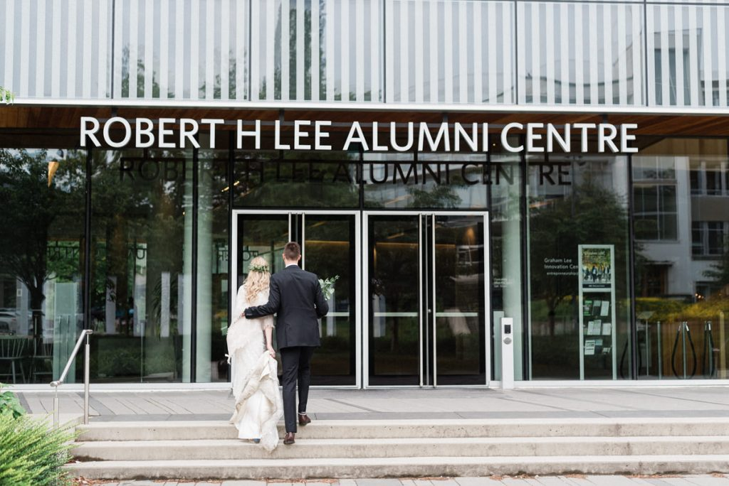 Robert H. Lee Alumni Centre wedding couple