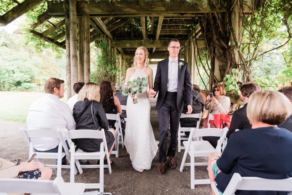UBC Botanical Gardens wedding ceremony