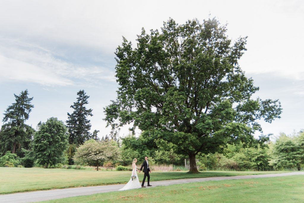UBC Botanical Gardens wedding couple