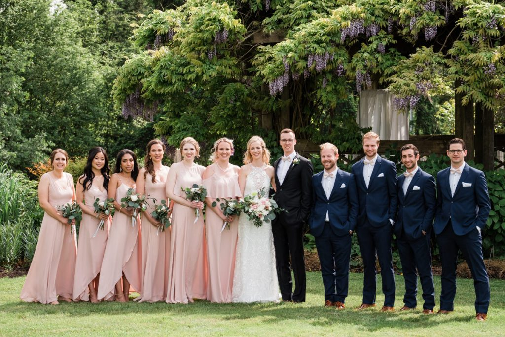 UBC Botanical Gardens wedding party