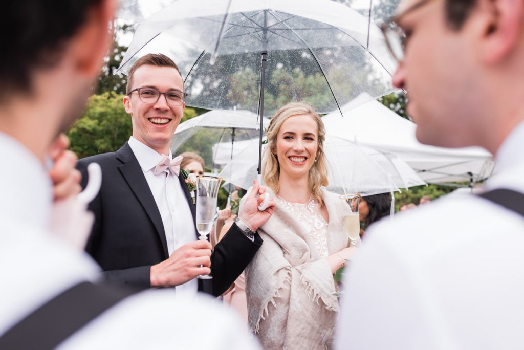 UBC Botanical Gardens wedding toast