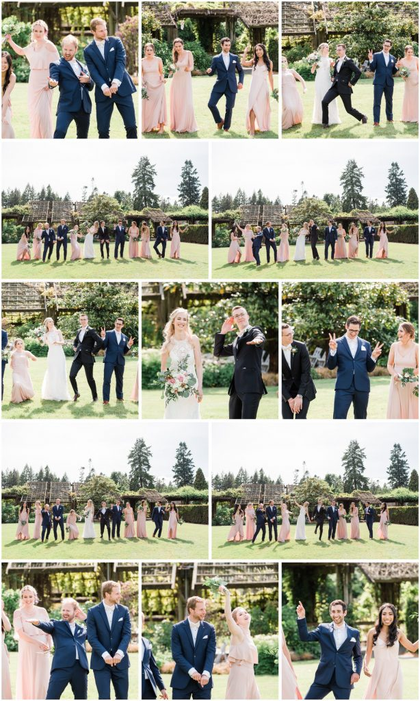 Vancouver wedding party fun photos