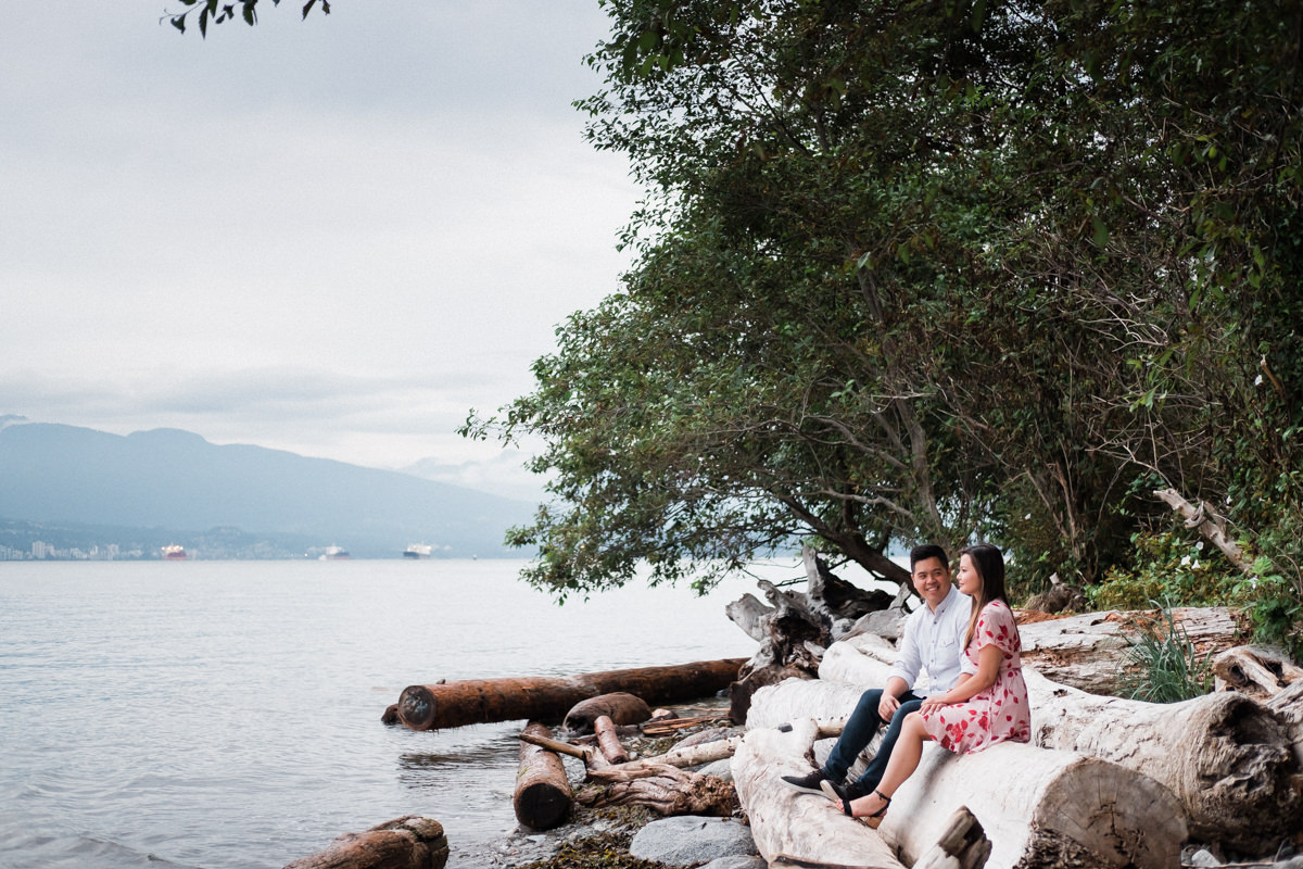 beach engagement photos in Vancouver UBC