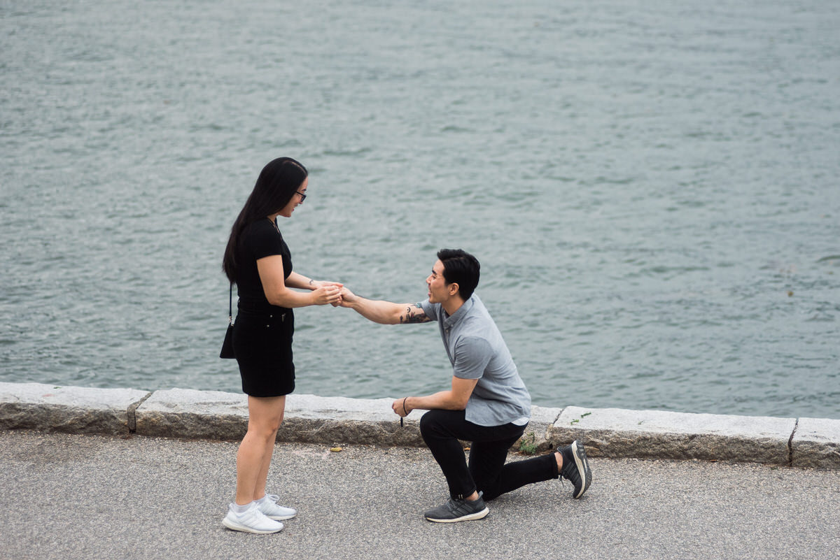 Stanley Park wedding proposal
