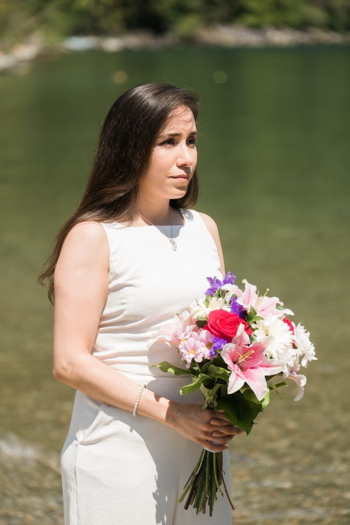 Maple Ridge bride during ceremony