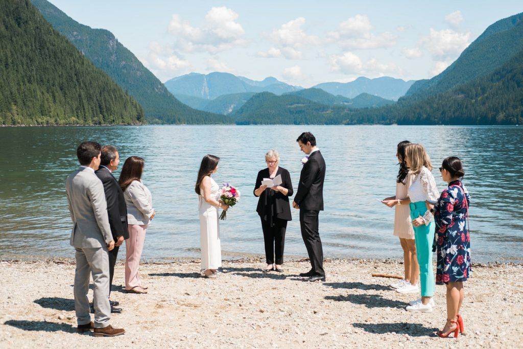 Maple Ridge elopement wedding ceremony