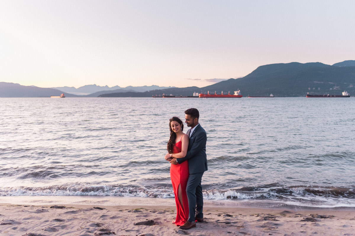 Jericho Beach engagement photos in Vancouver