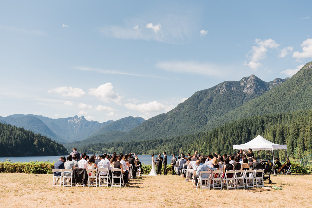 Cleveland Dam wedding ceremony