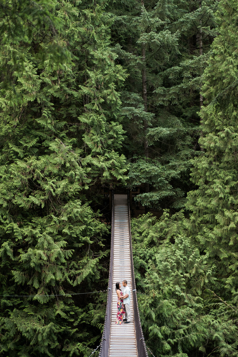 Lynn canyon engagement photography