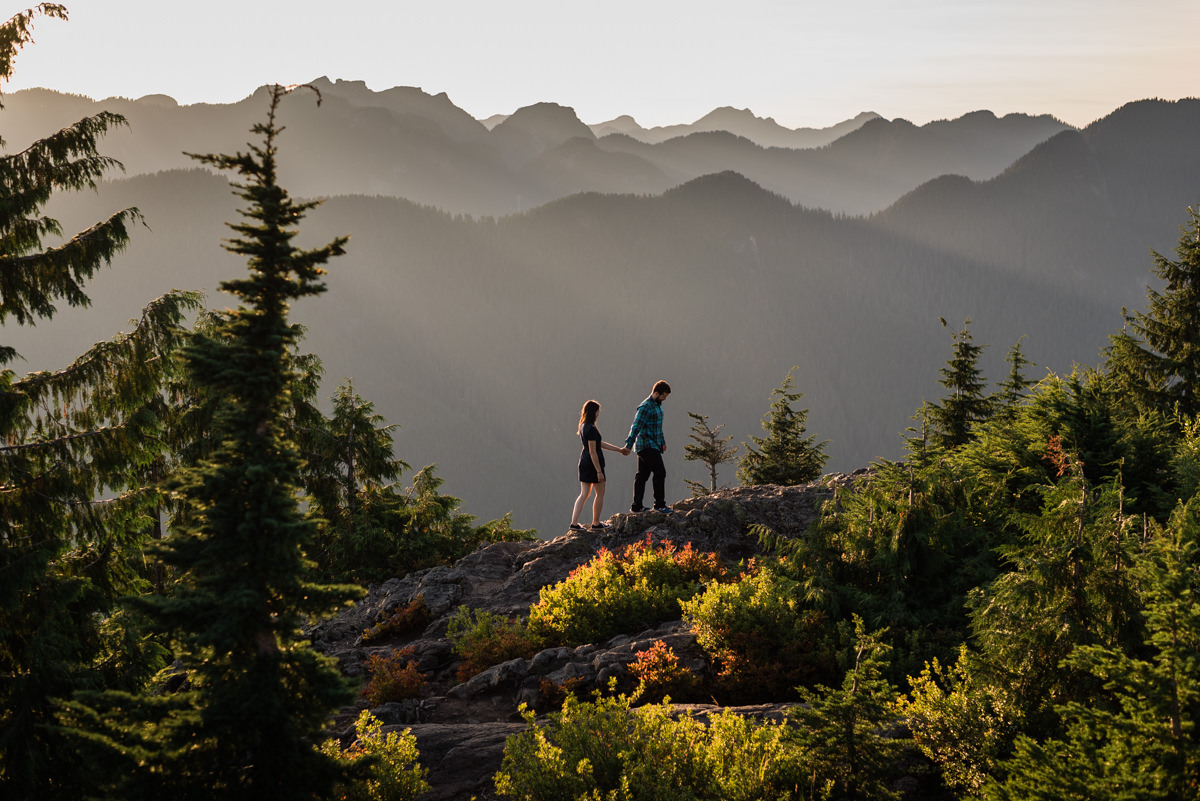Vancouver mountain engagement photos