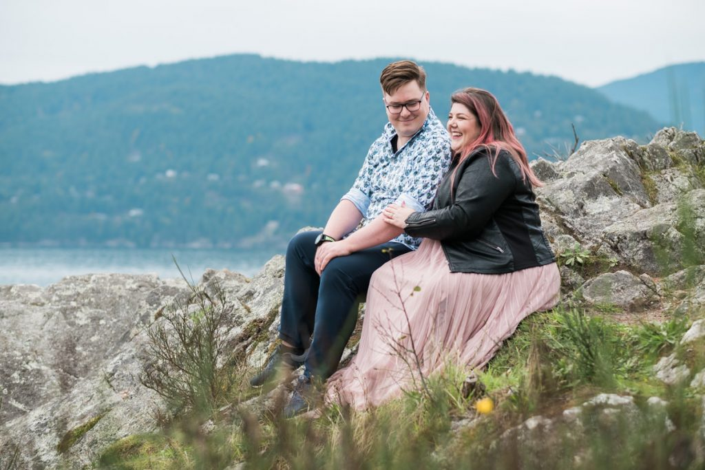 Whytecliff Park couple fun