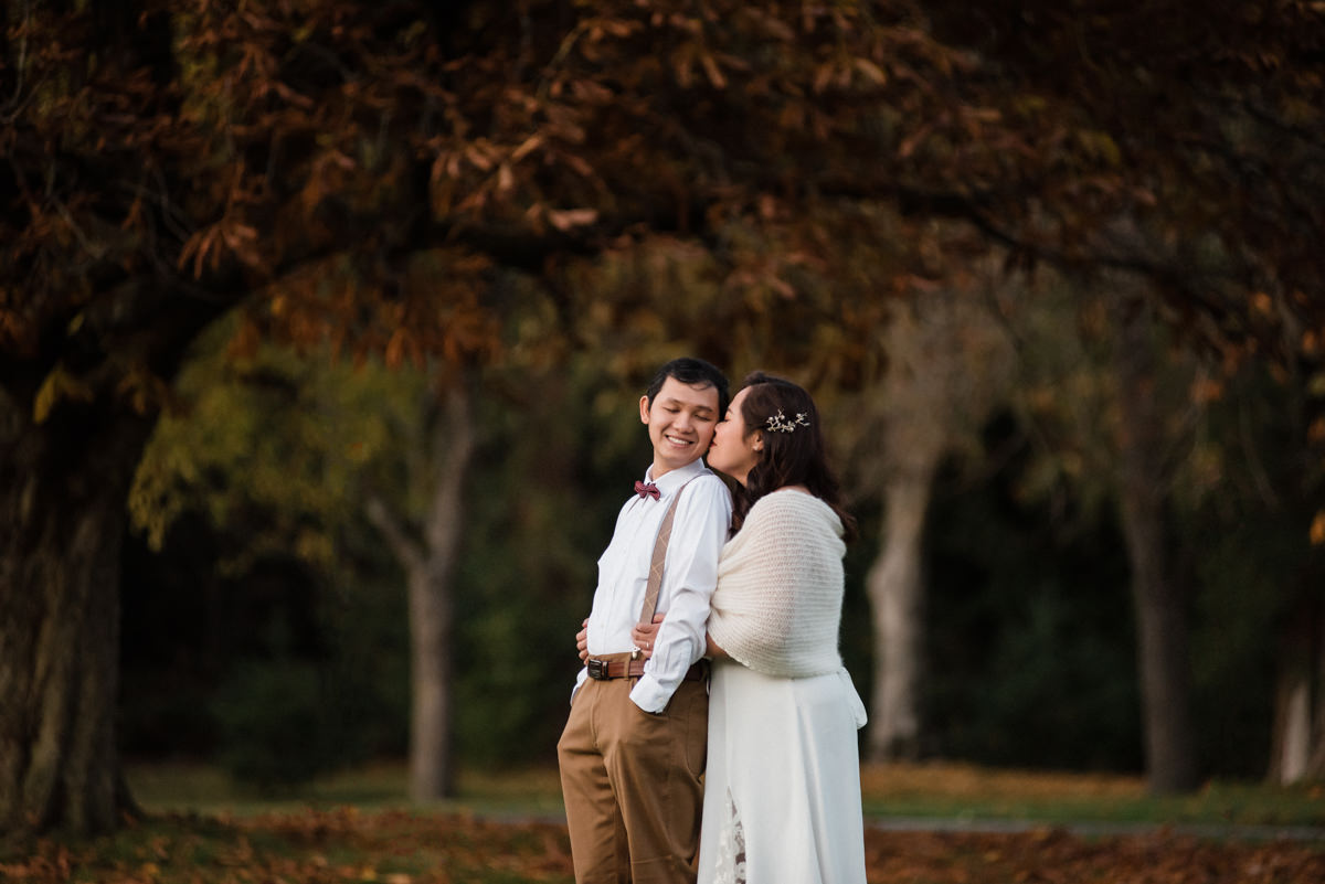 fall pre wedding photos