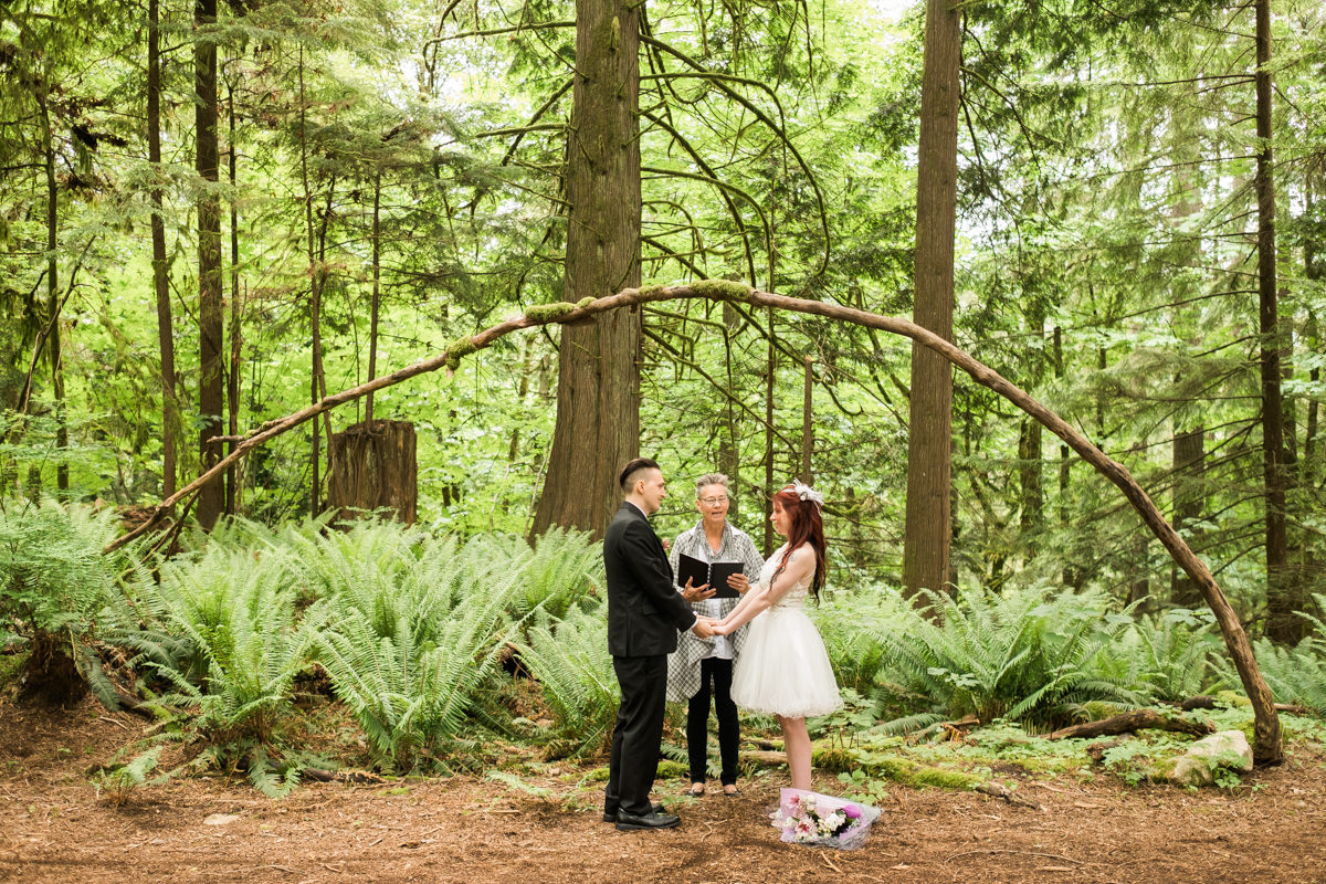 forest wedding ceremony vancouver