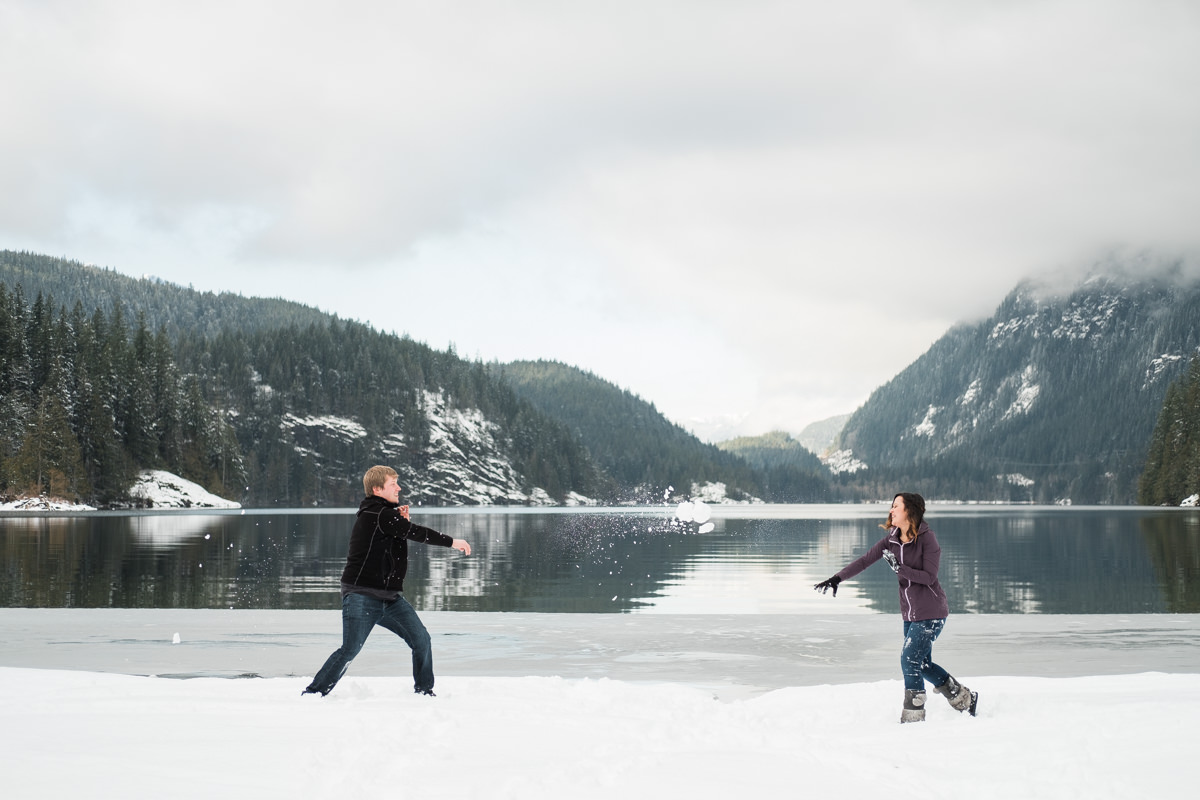 snow engagement photography vancouver