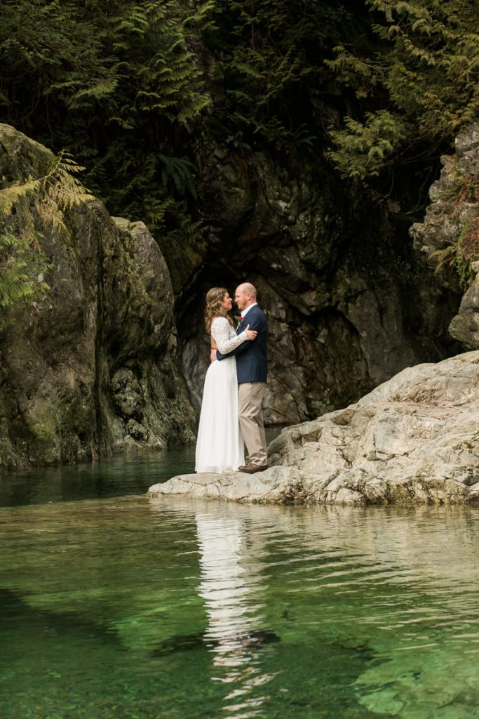 bride and groom elopement photos in vancouver