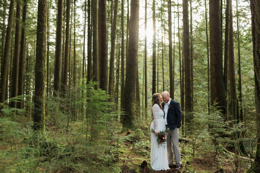 forest elopement photography in vancouver
