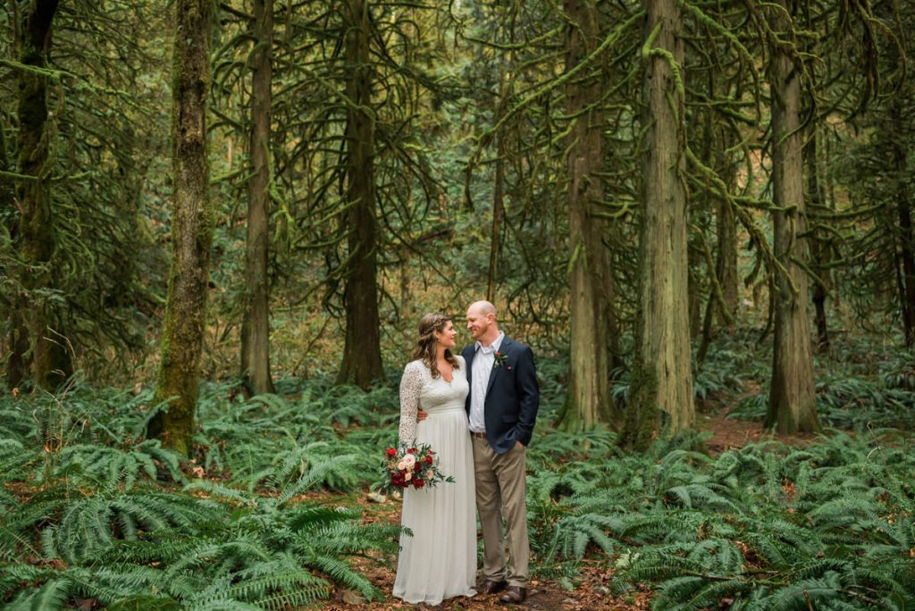 forest fun elopement photographers