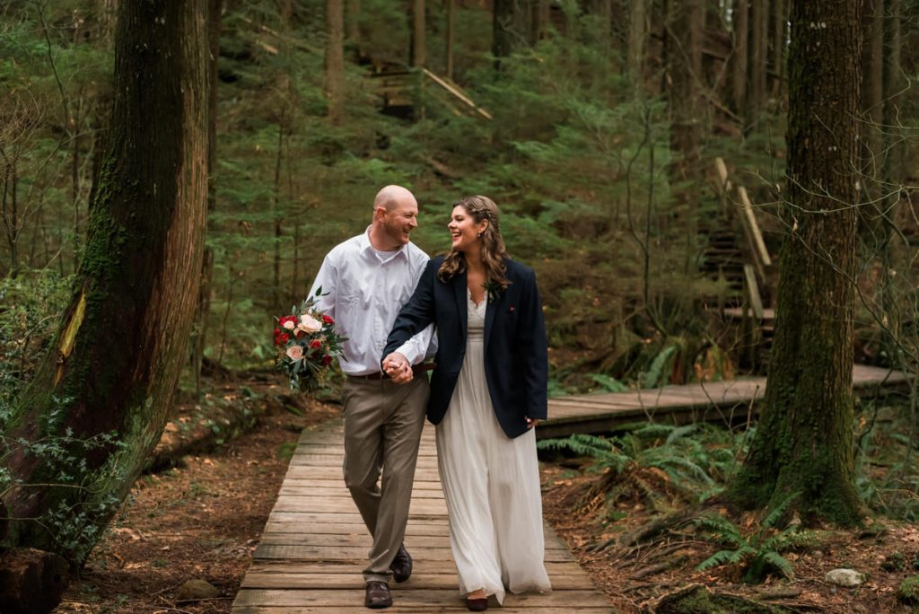 vancouver elopement photography in the forest