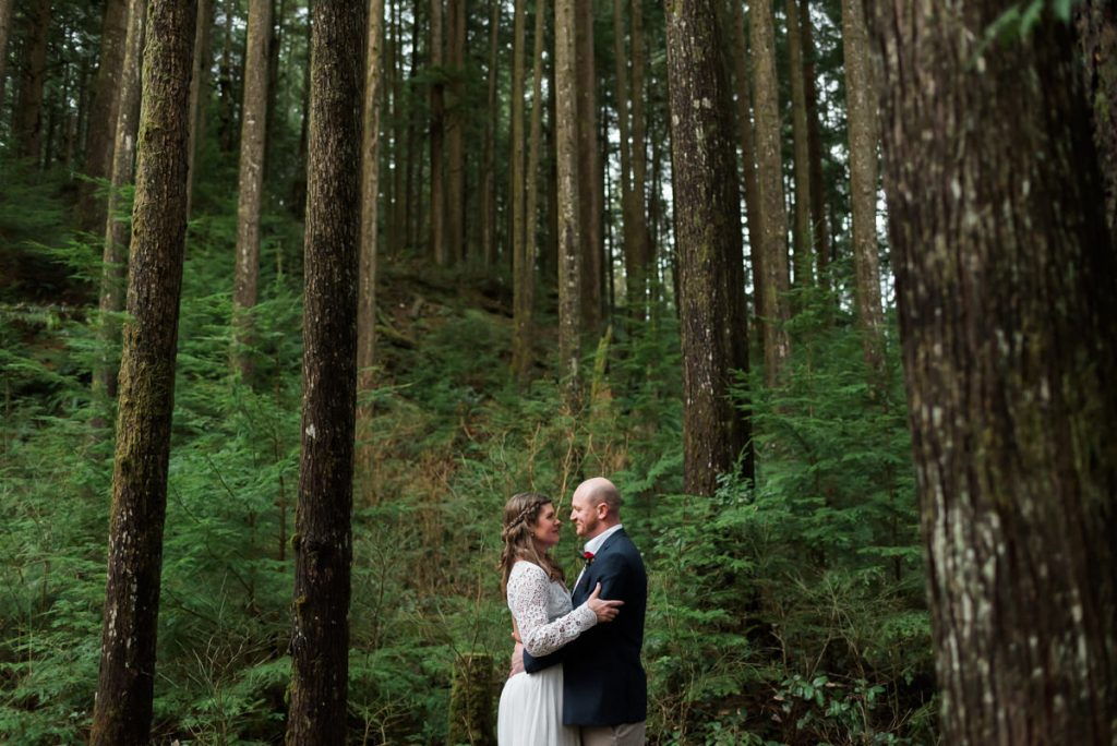 vancouver forest elopement photographers