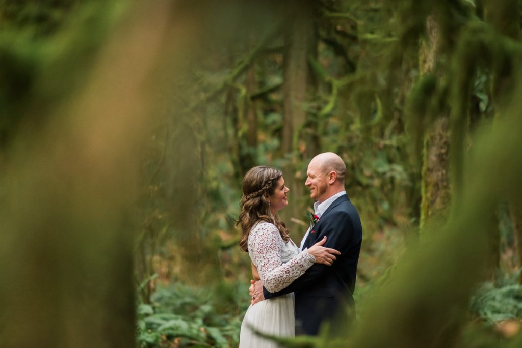 vancouver forest elopement photography