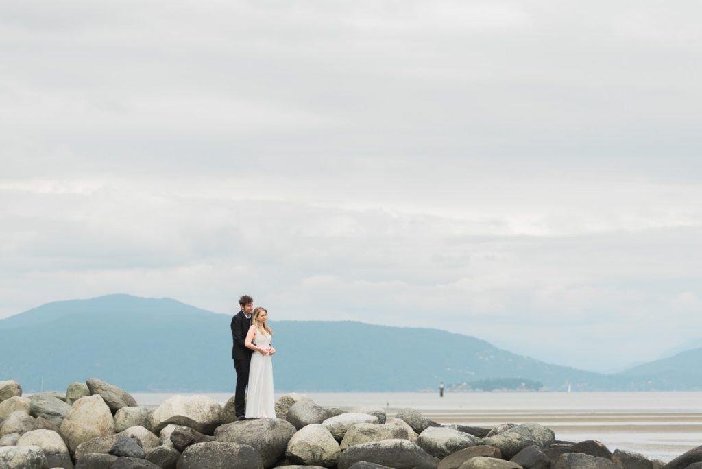 Spanish Banks elopement photography