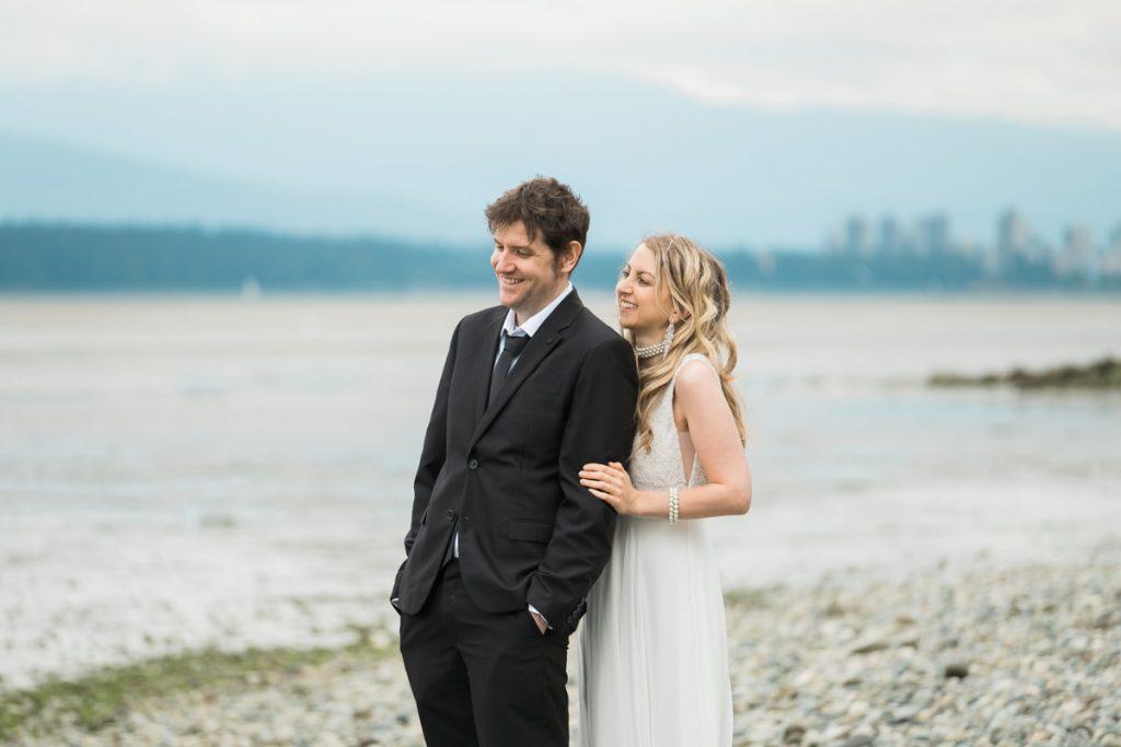 Vancouver beach elopement