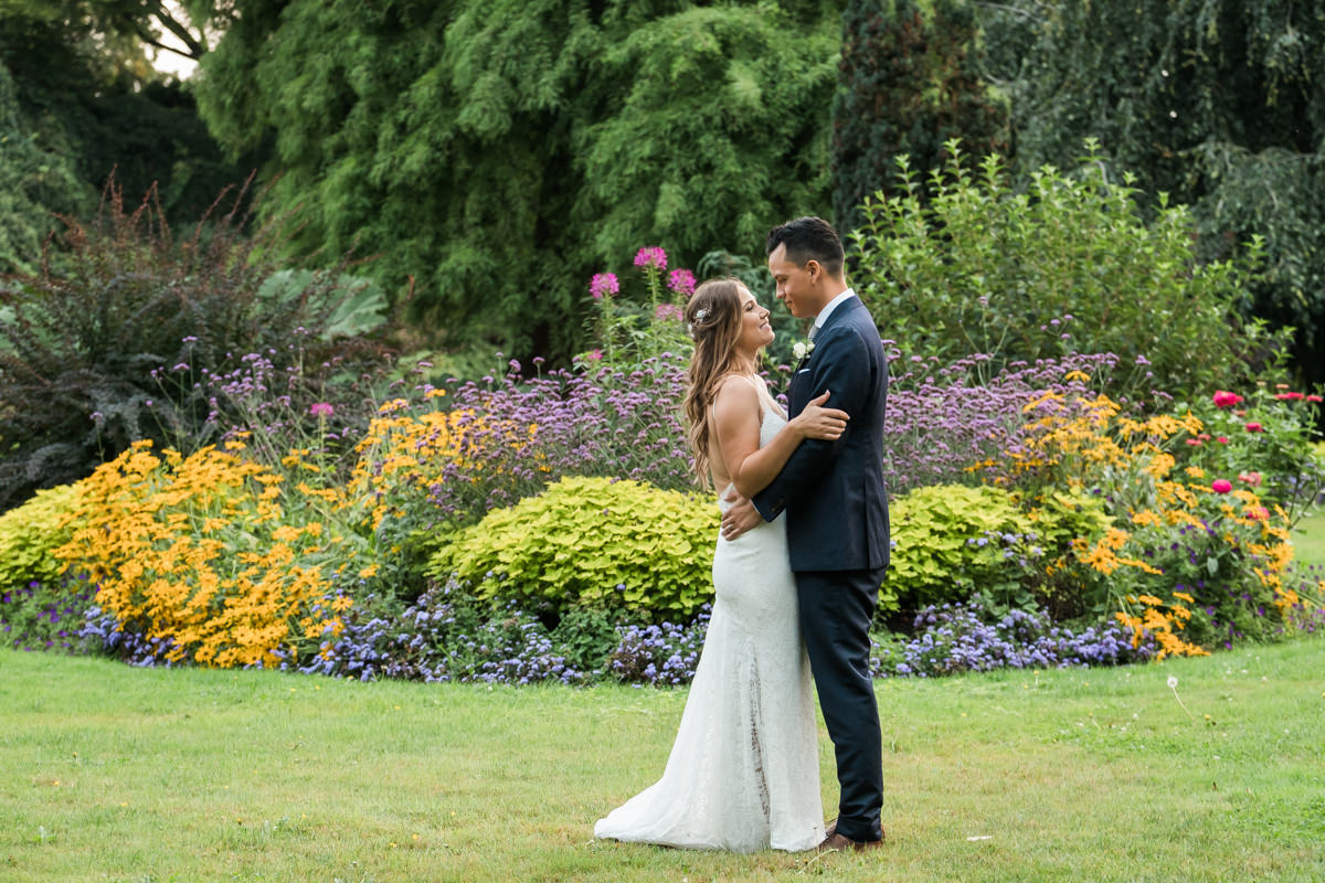 Intimate wedding at Queen Elizabeth Park