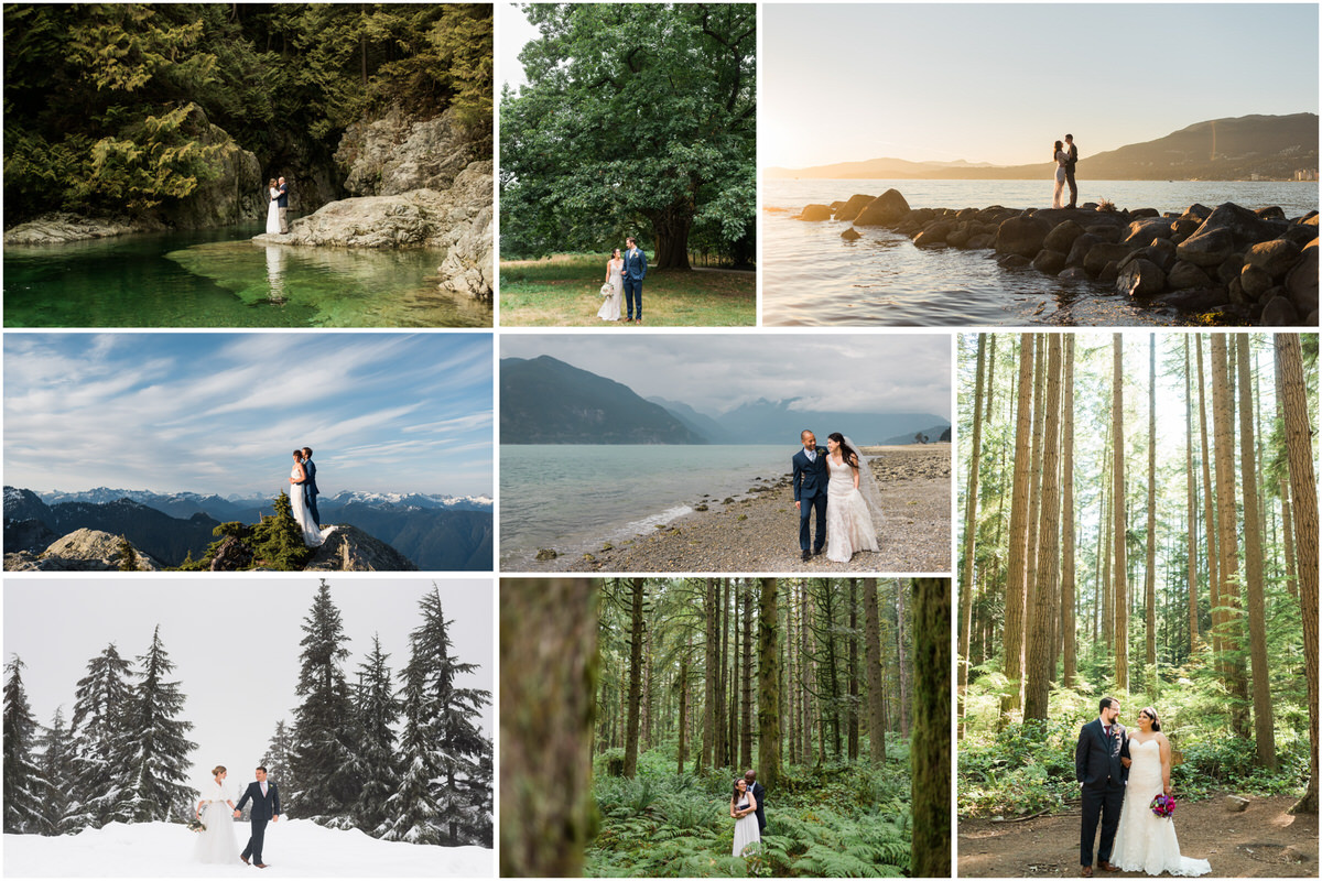best elopement locations in and around Vancouver