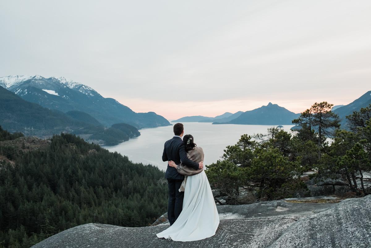 Squamish sunset elopement